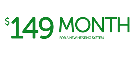 149 per month heating offer